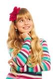 Durchdachtes blondes Mädchen Lizenzfreie Stockfotos