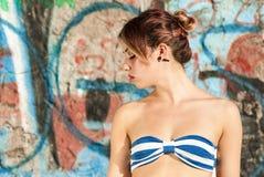 Durchdachtes Frauenporträt Lizenzfreie Stockbilder