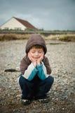 Durchdachtes Kind Stockfotografie