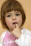 Durchdachtes Kind Stockfoto