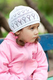 Durchdachtes kleines Mädchen Lizenzfreies Stockbild
