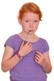 Durchdachtes Mädchen Stockbild