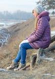 Durchdachtes Mädchen. lizenzfreie stockbilder