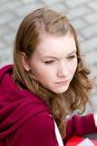 Durchdachtes Mädchen Lizenzfreies Stockfoto