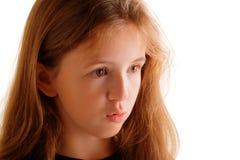 Durchdachtes Mädchen stockfoto