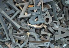 Durcheinander der Buchstaben lizenzfreie stockfotografie