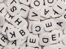 Durcheinander der Buchstaben Stockfoto