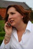 Durcheinander am Telefon Stockfotos