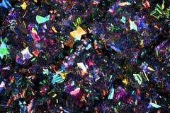Durcheinander von mehrfarbigen Plastikschmetterlingen stockfotografie