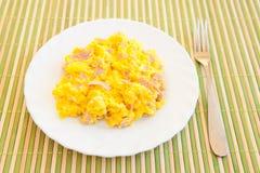 Durcheinandergemischte Eier Lizenzfreies Stockbild