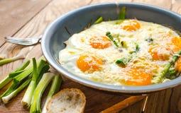 Durcheinandergemischte Eier Lizenzfreies Stockfoto