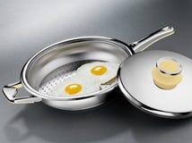 Durcheinandergemischte Eier Stockbilder