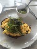 Durcheinandergemischtes Ei-Frühstück Lizenzfreie Stockbilder