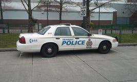 Durchfahrt-Polizeiwagen stockfoto