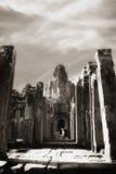 Durchgang am Bayon Tempel Stockfotos