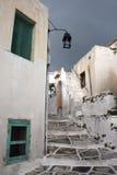 Durchgang in Leukes, Paros Stockbild