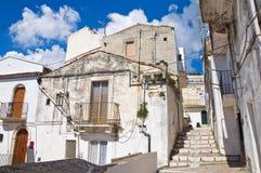 Durchgang. Monte Sant ' Angelo. Puglia. Italien. lizenzfreie stockfotos