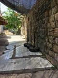 Durchgang in Nazaret, moslemische Stadt, die zum Christentum in der es wichtig ist, ist die Heimatstadt von Vrigin Mary lizenzfreie stockfotos