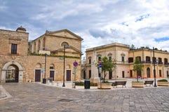 Durchgang. Ugento. Puglia. Italien. stockfotografie