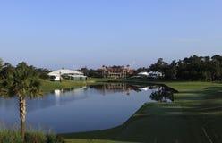 Durchlöchern Sie 18, TPC Sawgrass Golf, Ponte Vedra, Florida Stockbild