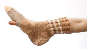 Durchlöcherte Socke lizenzfreie stockfotos