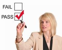 Durchlauf oder Ausfallen Lizenzfreies Stockbild