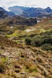 Durchlauf Tres Cruces in Nationalpark Cajas, Ecuador Stockfotografie