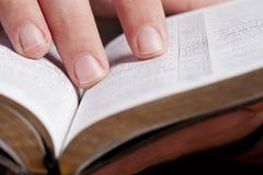 Durchlesen die Bibel Stockfotos