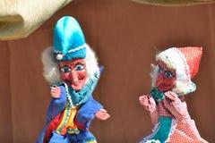Durchschlags- und Judy-Puppenspiel stockbilder