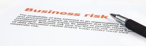 Durchschnitt des Geschäftsrisikos Stockfotos