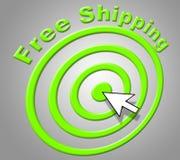 Durchschnitte des kostenlosen Versands gratis und Liefern Stockbild