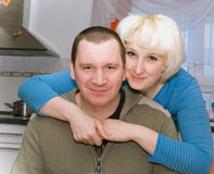 Durchschnittlichen verheirateten Paars Lizenzfreie Stockbilder