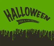 Durchsickern des Schlamms Halloween stock abbildung