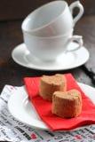 Durcit des truffes dans la porcelaine blanche Photos libres de droits