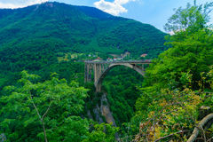 Durdevica Tara Bridge. The Durdevica Tara Bridge, across the Tara River Canyon, in northern Montenegro Royalty Free Stock Photos