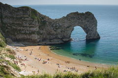 Durdle Door. Which is a very popular tourist destination located in Dorset, England Royalty Free Stock Images
