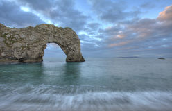Durdle Door. Sunset, Early Morning Dorset stock photography