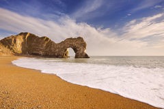 Durdle Door arch in Southern England on a sunny day Royalty Free Stock Photography