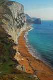 Durdle Door from Bat's Head, Dorset Royalty Free Stock Photo