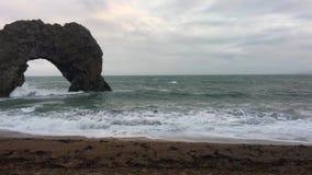 Durdle Door beach stock video footage