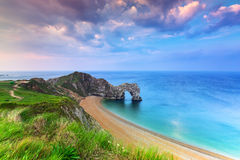 Durdle Door at the beach on the Jurassic Coast of Dorset Stock Image