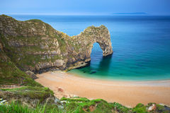 Durdle Door at the beach on the Jurassic Coast of Dorset Royalty Free Stock Photography