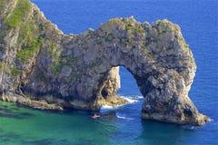 Durdle door - Beautiful beaches of Dorset, UK. Durdle Door and beaches of Jurassic coast in England royalty free stock image