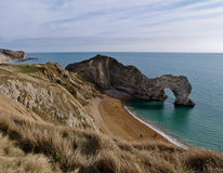 Durdle Door and Dorset Coastline, England stock photos