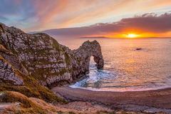 Durdle Door Dorset England Stock Photos