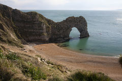 Durdle Door, Dorset. Durdle Door Dorset.  Durdle Door is a natural limestone arch on the Jurassic Coast near Lulworth in Dorset, England Royalty Free Stock Images
