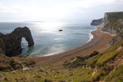 Durdle Door, Dorset. Durdle Door Dorset.  Durdle Door is a natural limestone arch on the Jurassic Coast near Lulworth in Dorset, England Royalty Free Stock Photo