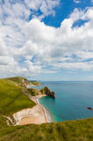 Durdle Door, Dorset touris attraction view from west side Royalty Free Stock Photos