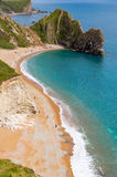 Durdle Door, Dorset touris attraction view from west side Royalty Free Stock Image