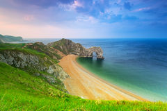 Durdle Door on the Jurassic Coast of Dorset Stock Images
